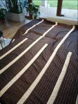 Duża narzuta pled br�z/beż + poduszki
